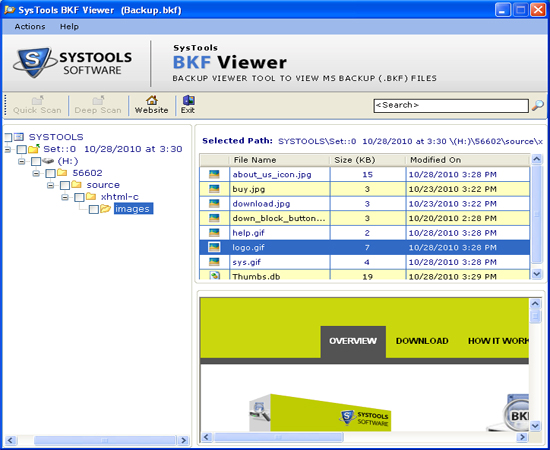 Click to view Program That Read BKF 5.4.1 screenshot